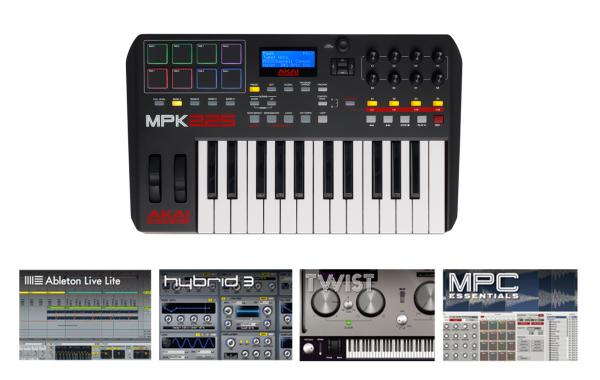 ableton live lite hybrid 3 twist 2 0 mpc essentials akai mpk225. Black Bedroom Furniture Sets. Home Design Ideas