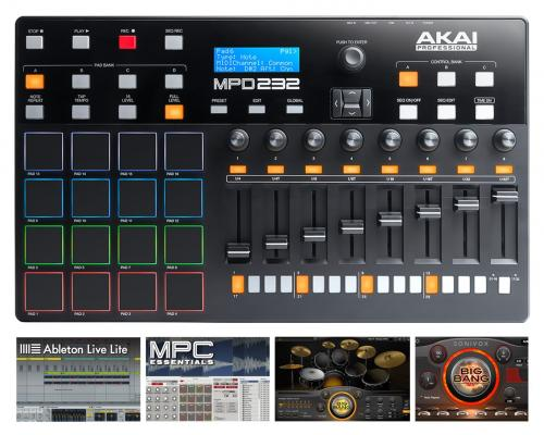 64 32 ios ableton live lite 30gb akai professional mpd232. Black Bedroom Furniture Sets. Home Design Ideas