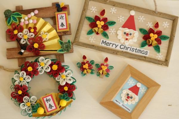 沖縄県東村(ひがしそん)「ふるさと納税」お礼品に『季節を楽しむペーパークイリング(クリスマス&お正月)』を新たに追加いたしました画像