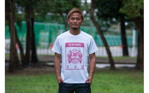 沖縄県沖縄市(おきなわし)「ふるさと納税」お礼品に『FC琉球2019 エンブレムTシャツ ホワイト』を新たに追加いたしました画像