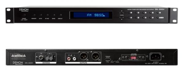 ワイドFM対応のPLLシンセサイザー・チューナー搭載!AM/FM20局メモリー可能な業務用デジタルAM/FMラジオチューナー、DENON Professional  DN-300H、2月16日発売!