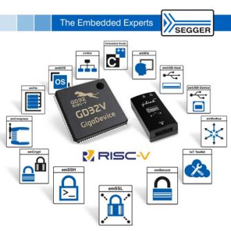 GigaDevice Semiconductorss社フラッシュベースRISC-Vマイクロコントローラ向けSegger開発環境およびミドルウエアの販売開始